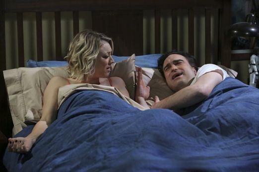 Penny und Leonard können nicht schlafen