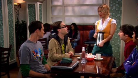 Szene aus dem Restaurantbereich der Serie
