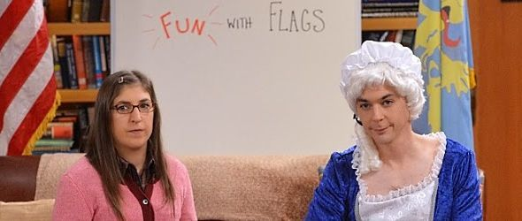 Sheldon und Amy bei Fun with Flags