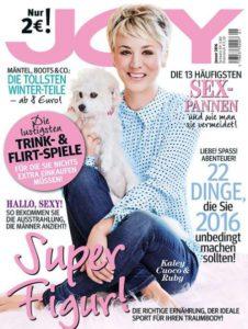 Kaley Cuoco auf dem Cover der JOY Deutschland - 2016