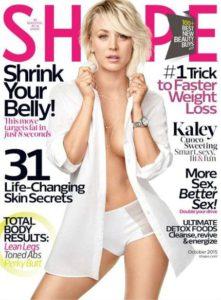Kaley Cuoco auf dem Cover der SHAPE USA - 2015