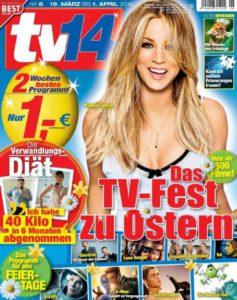 Kaley Cuoco auf dem Cover der TV14 - 2016