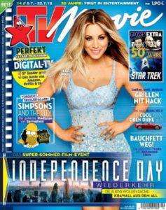 Kaley Cuoco auf dem Cover der TV Movie - 2016