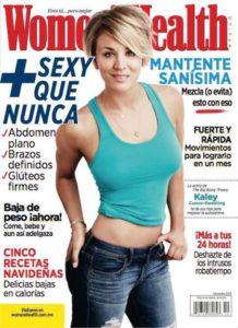 Kaley Cuoco auf dem Cover für das Women's Health Magazin Mexiko - 2014