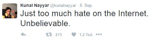 Kunal Nayyar twittert