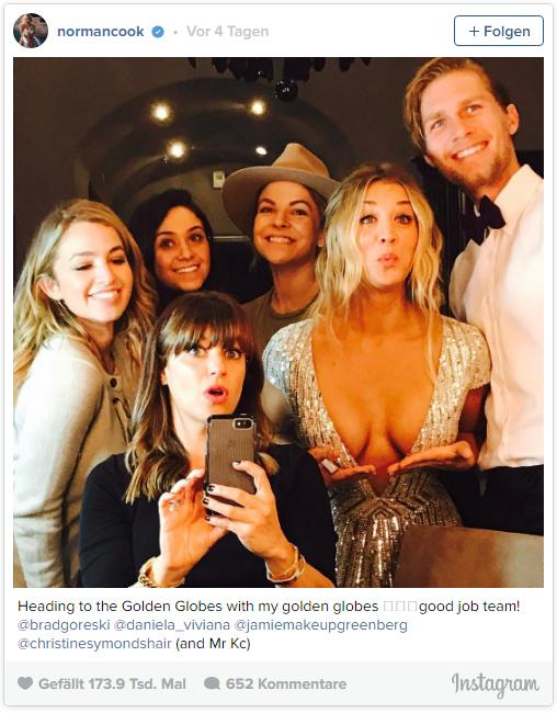 Kaley Cuoco präsentiert ihre Golden Globes