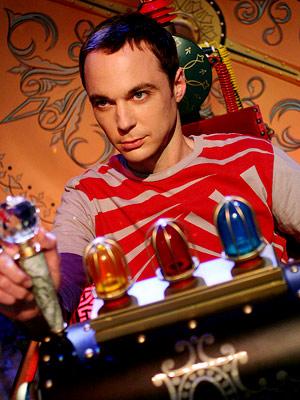 Sheldon Cooper in seiner Zeitmaschine