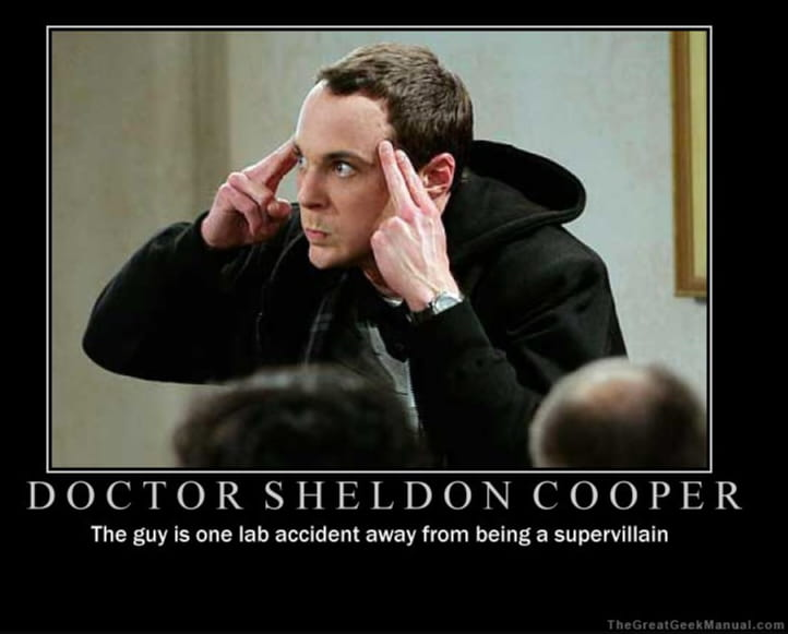 Bild von Sheldon Cooper Motivational Poster