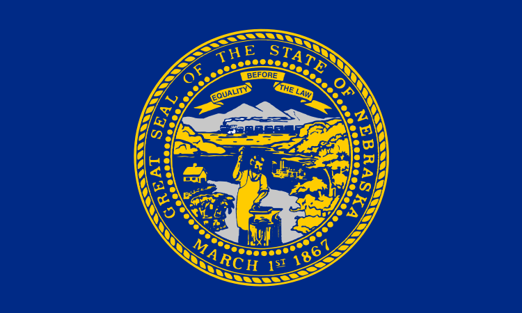 Nationalflagge von Nebraska