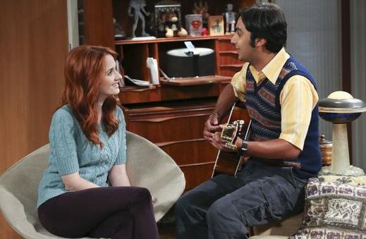 Emily bekommt Raj's Song als Kostprobe vorgespielt