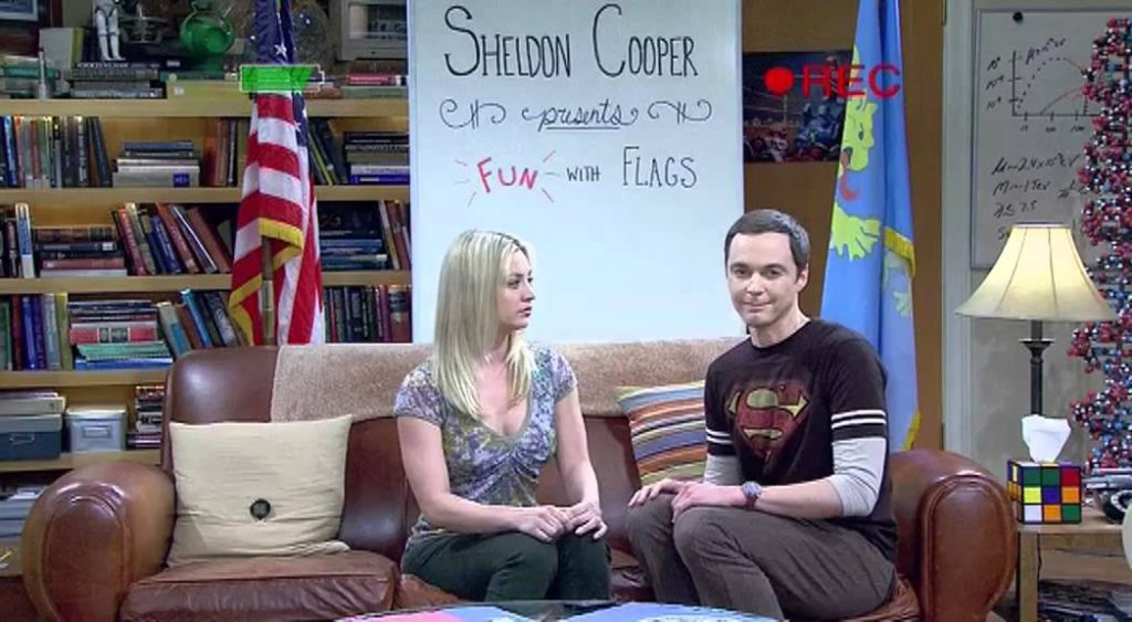 Sheldon Cooper presents Fun with Flags mit Penny und Nebraska
