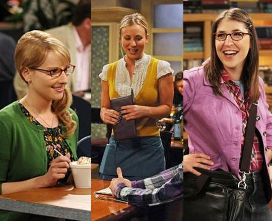 Die 3 Mädels aus The Big Bang Theory
