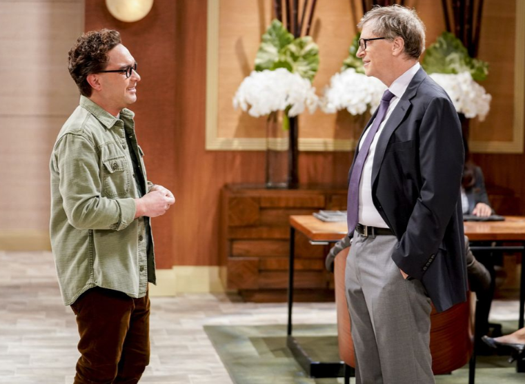 Bild aus The Big Bang Theory mit Bill Gates