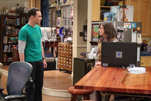 Sheldon und Amy am Esstisch