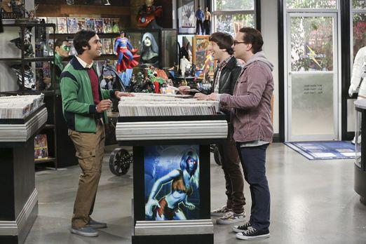 Raj, Howard und Leonard im Comicbuchladen