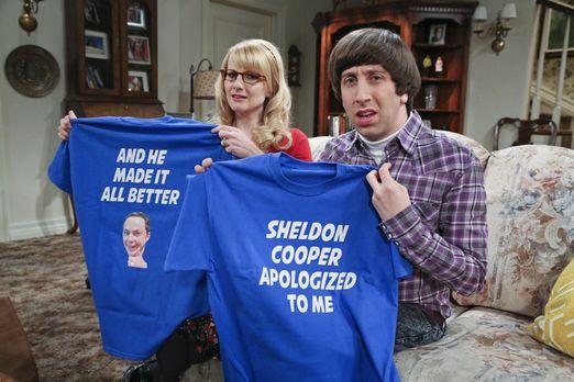 Sheldon hat T-Shirts drucken lassen