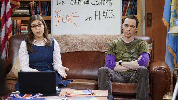 Amy und Sheldon haben bei Fun with Flags keinen Spaß