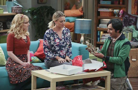 Raj freut sich über den Rat von Bernadette und Penny